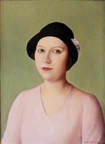 Portrait of a Woman in Hat - Антоніо Донгі