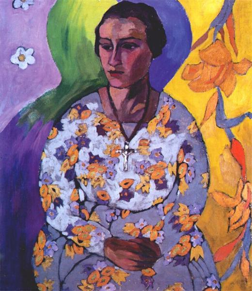 Portrait of N. Svendonskaya, c.1915 - Aristarkh Lentulov
