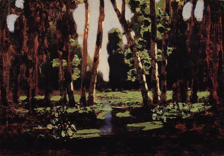 A Birch Grove, 1879 - Arkhip Kuindzhi