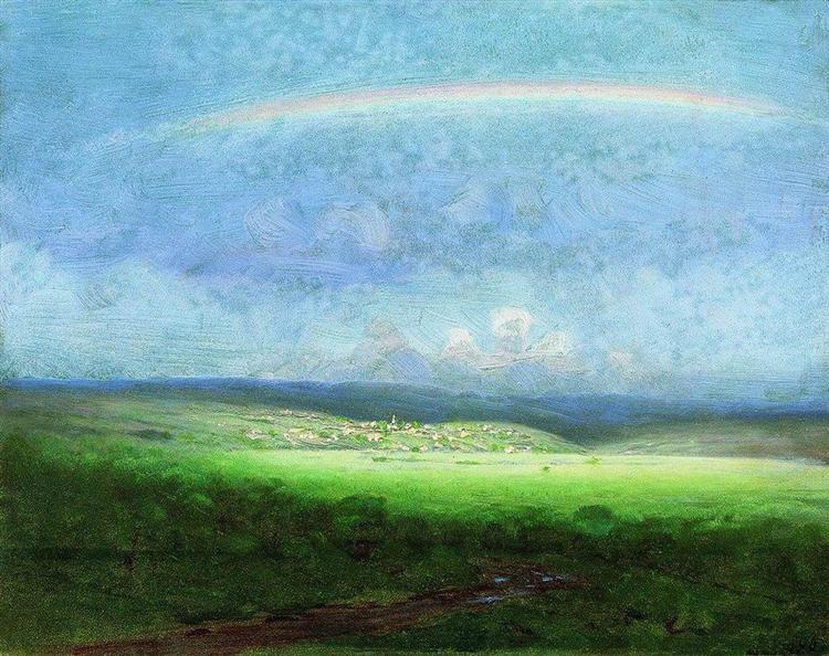 After a Rain. Rainbow - Arkhip Kuindzhi