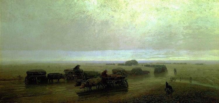 Chumaks path in Mariupol, 1875 - Arkhip Kuindzhi