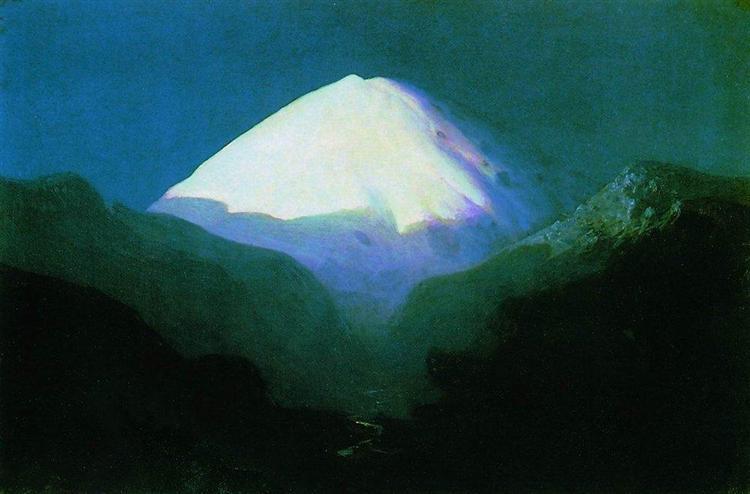 Elbrus. Moonlit Night, c.1895 - Arkhip Kuindzhi