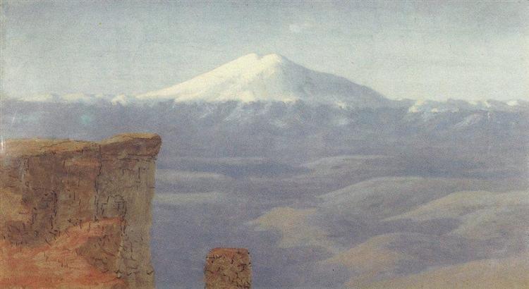 Fog in the mountains. Caucasus, c.1908 - Arkhip Kuindzhi