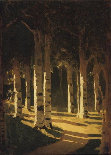 Sunlight in the park, c.1908 - Arkhip Kuindzhi