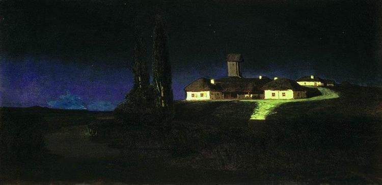 Ukrainian Night - Arkhip Kuindzhi