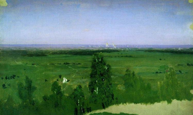 View on Moscow from Sparrow Hills, 1882 - Arkhip Kuindzhi