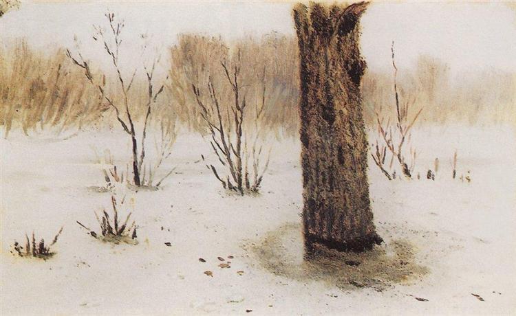 Winter. Thaw, c.1895 - Arkhip Kuindzhi
