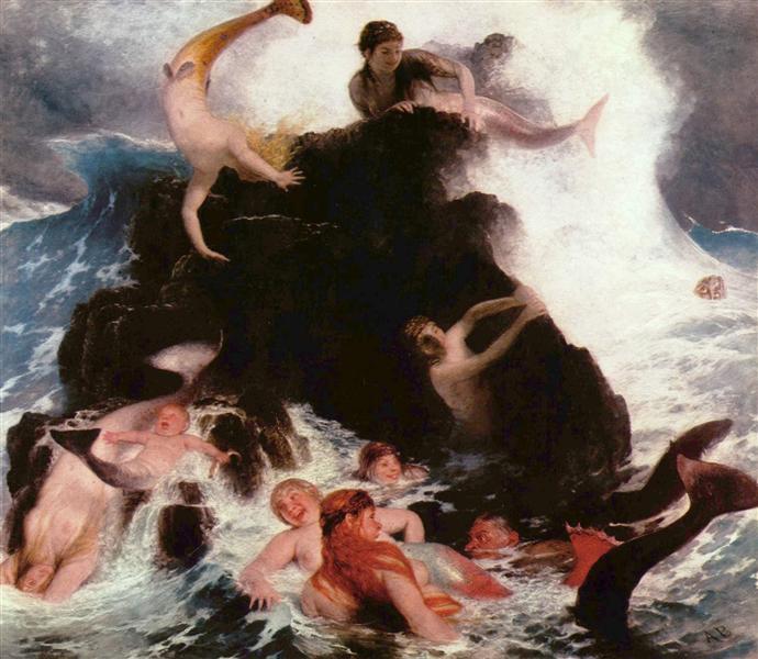 Mermaids at Play, 1886 - Arnold Böcklin