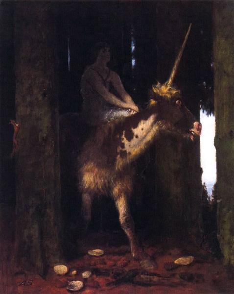 Unicorn, 1885 - Arnold Böcklin
