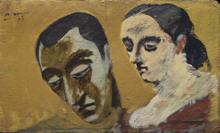 Portrait of Myself and My Imaginary Wife, c.1933 - c.1934 - Arshile Gorky
