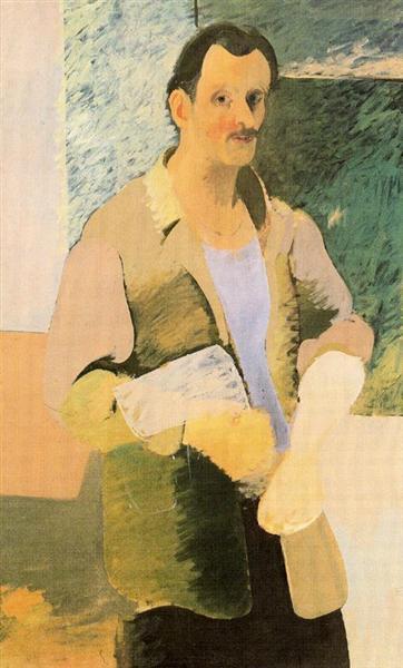 Self-Portrait, c.1937 - Arshile Gorky