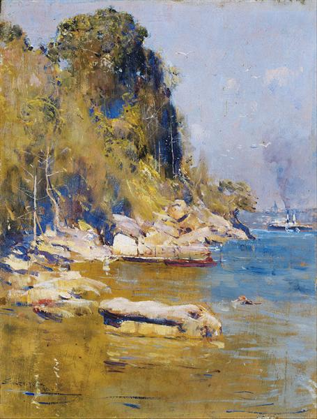From my camp (Sirius Cove) - Arthur Streeton
