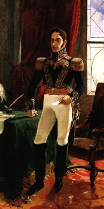El Libertador en traje de campaña - Arturo Michelena