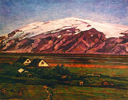 The Farm Múlakot in Fljótshlíð, South Iceland, 1913 - Asgrimur Jonsson