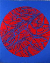 Untitled (Painted with Akira Kanayama) - Atsuko Tanaka