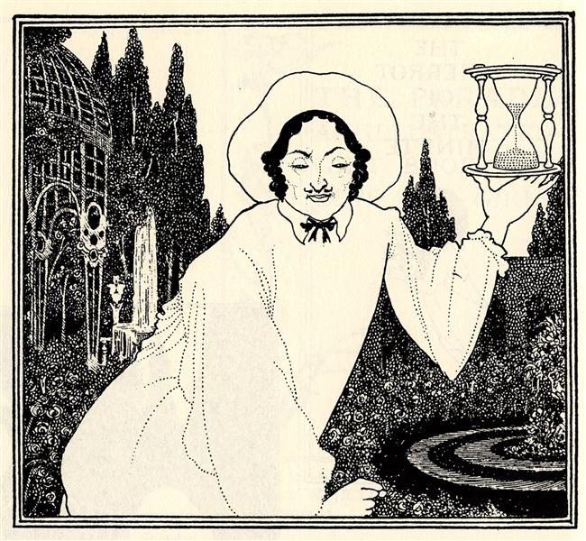 Cover design to 'The Pierrot of the Minute', 1897 - Aubrey Beardsley