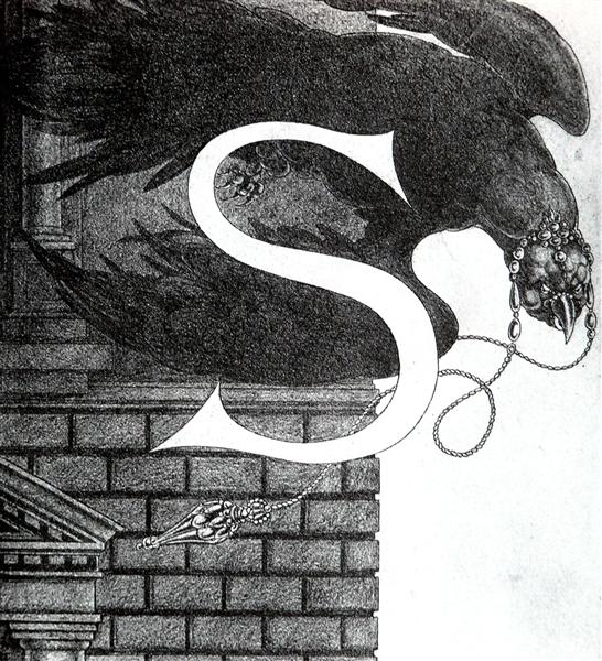 Design of Initial S - Aubrey Beardsley