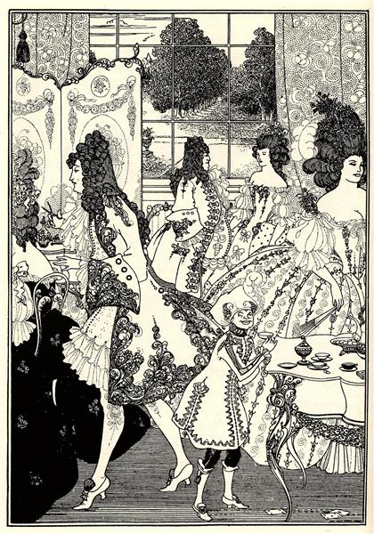 Illustration for 'The Rape of the Lock' by Alexander Pope, 1896 - Aubrey Beardsley