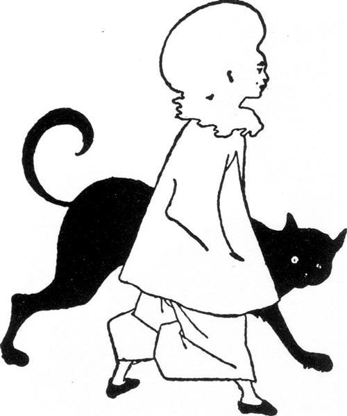Pierrot and cat, from St. Paul's, 1893 - Aubrey Beardsley
