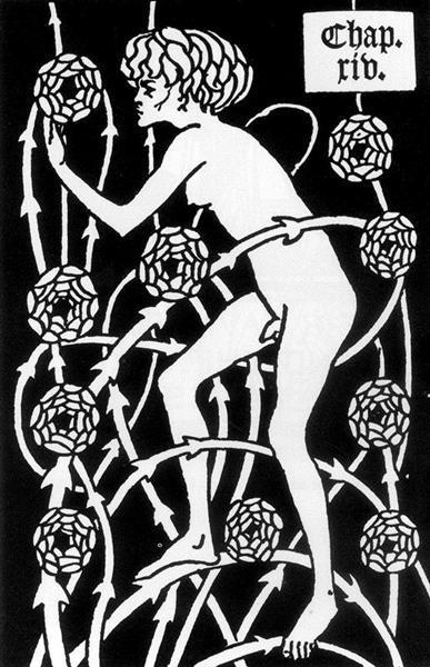 Hermaphrodite Among Roses, 1894 - Aubrey Beardsley