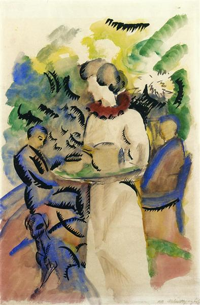 Afternoon in the Garden, 1913 - August Macke