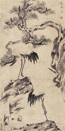 Pine and Cranes - Bada Shanren
