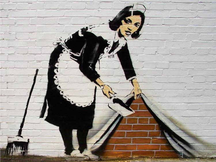 French maid - Banksy