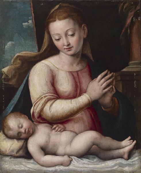Madonna Adoring the Child, 1605 - Barbara Longhi