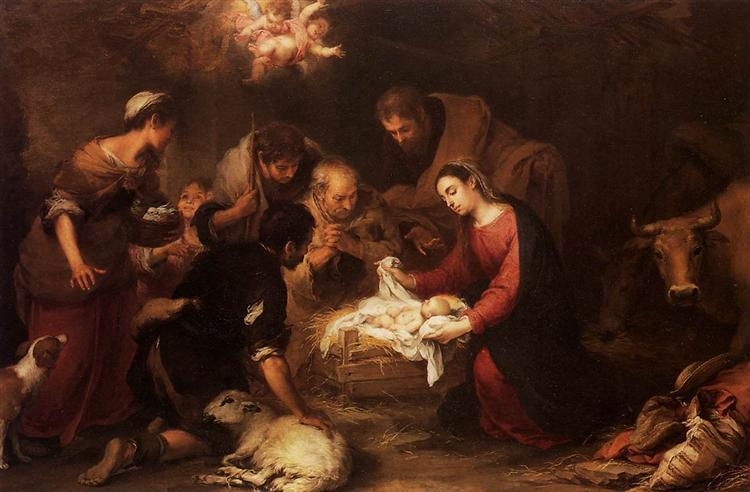 Adoration of the Shepherds, c.1668 - Bartolome Esteban Murillo