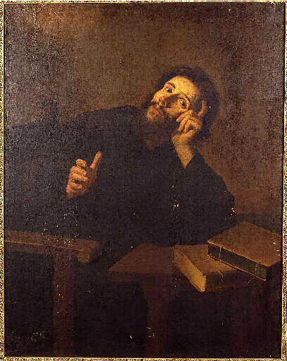 Saint Augustine in meditation - Bartolome Esteban Murillo
