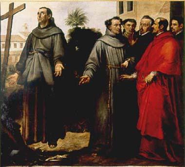 Saint Didacus of Alcalá in ecstasy before the cross, 1646 - Bartolome Esteban Murillo