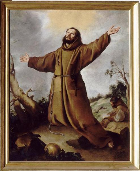 Saint Francis of Assisi Receiving the Stigmata, c.1680 - Bartolome Esteban Murillo