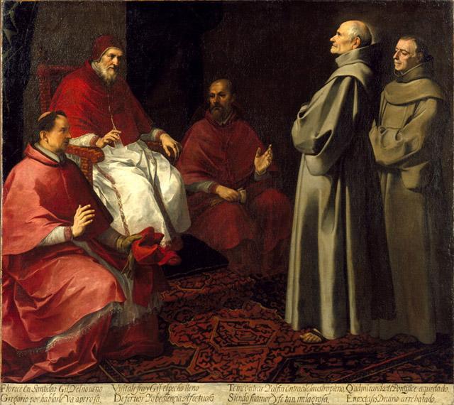 The Blessed Giles Levitating before Pope Gregory IX, 1645 - 1646 - Бартоломе Эстебан Мурильо