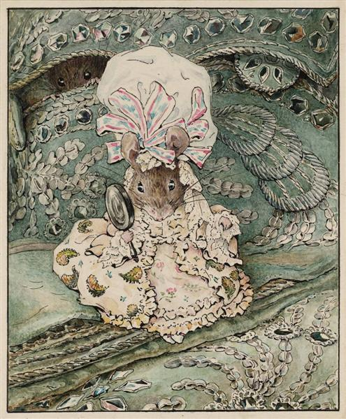 Lady Mouse in Mob Cap, 1902 - Beatrix Potter