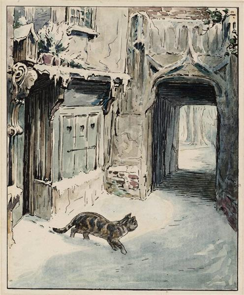 Simpkin Goes Out, 1902 - Beatrix Potter