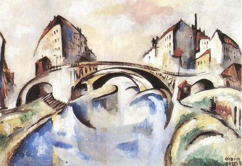 Cityscape with Bridge, 1910 - Béla Kádár