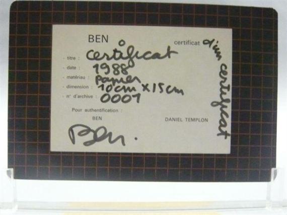 Certificat - Ben