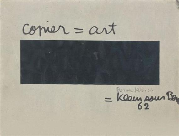 copier = art, 1962 - Ben