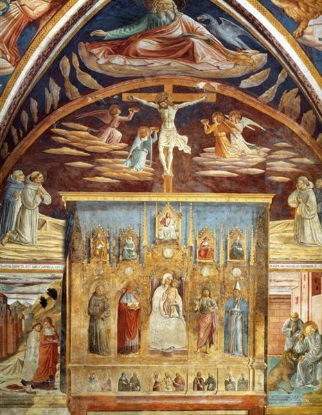 Madonna y niño rodeados por los Santos - Benozzo Gozzoli
