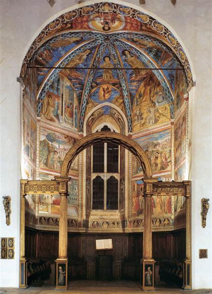 Vista del ábside de la Capilla Mayor - Benozzo Gozzoli