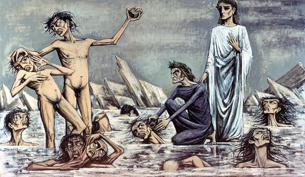 L'enfer de Dante: Damnes pris dans les glaces, 1976 - Bernard Buffet