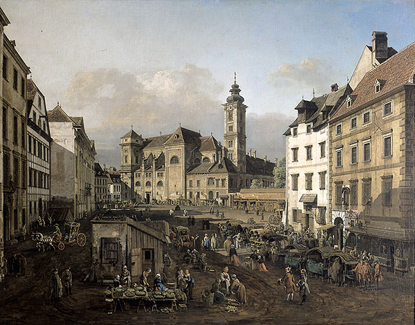 Freyung in Vienna, View from the southeast, 1758 - Бернардо Беллотто