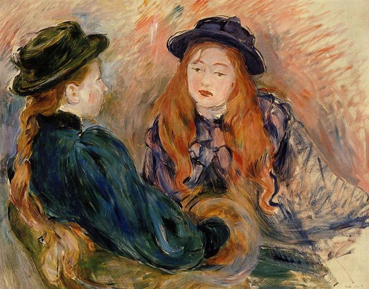 Conversation, 1891 - Берта Моризо