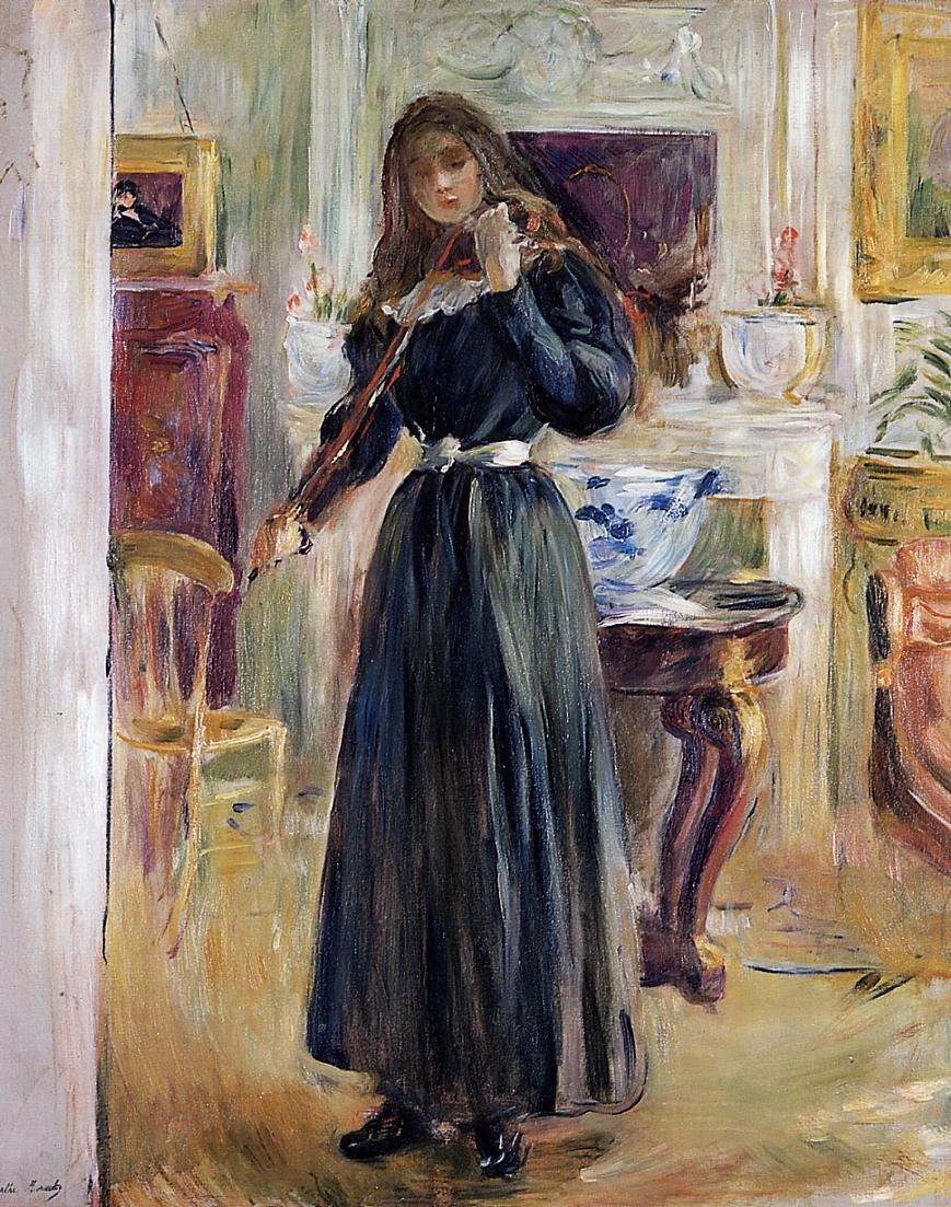Julie Playing a Violin, 1893 - Berthe Morisot - WikiArt.org