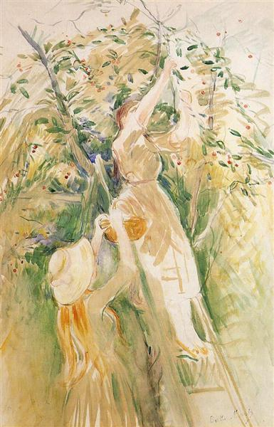 The Cherry Tree (study), 1891 - Berthe Morisot