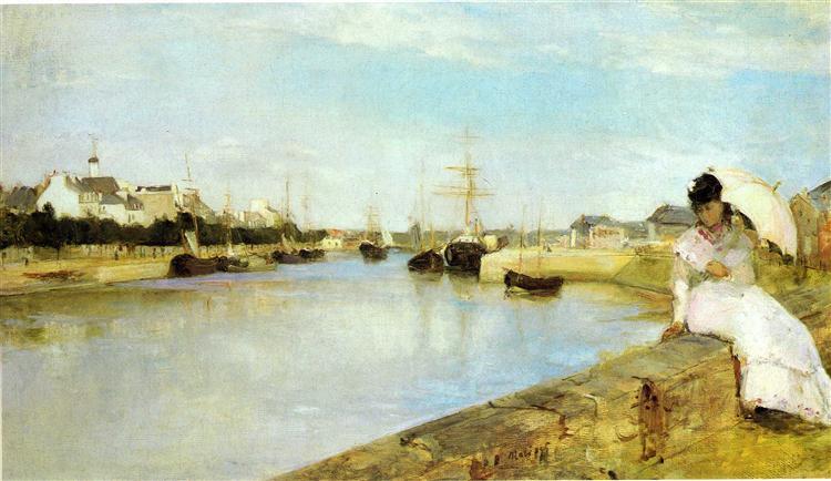 The Harbor at Lorient, 1869 - Berthe Morisot
