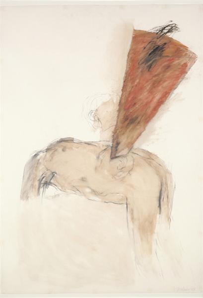 Bent Figure with Megaphone, 1988 - Betty Goodwin