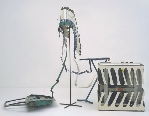 Car Door, Ironing Board and Twin-Tub with North American Indian Head-Dress, 1981 - Bill Woodrow