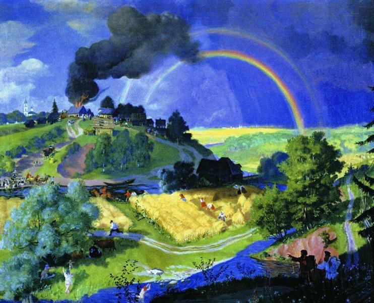 После грозы, 1921 - Борис Кустодиев