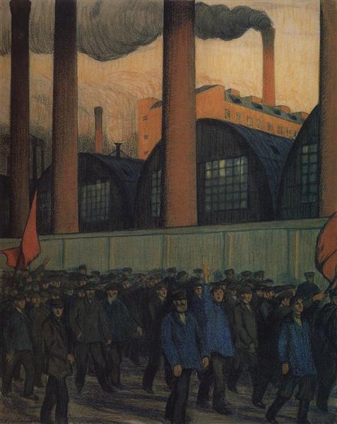 Strike, 1906 - Borís Kustódiev